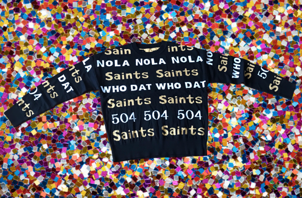 GAMEDAY GRAFFITI New Orleans Saints Sweater