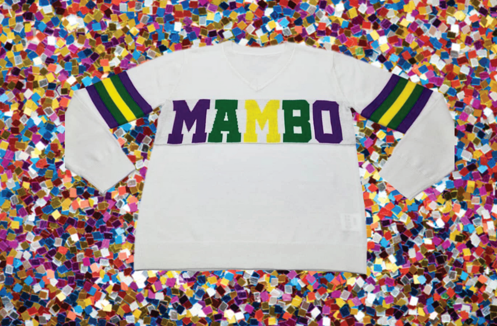 Mardi Gras MAMBO Sparkle City Sweater