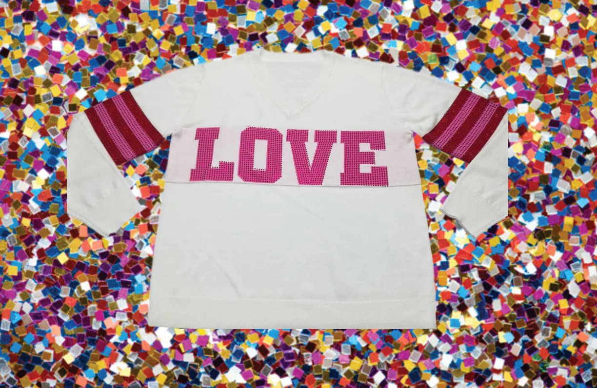 Valentine's LOVE Sparkle City Sweater