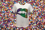 Lucky Lips Tee Mardi Gras Tri Color