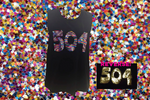 504 Area Code Reversible Sequin Black Tank