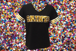 SAINTS Black Color Rush Jersey Tee
