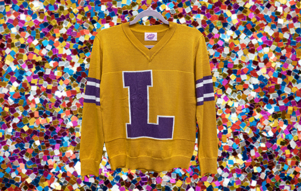 L Gold LSU Jersey Sweater