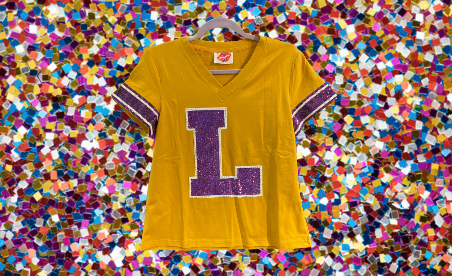 L Throwback Gold LSU Jersey Tee