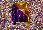 Seaux Sequin Sweater Purple/Gold