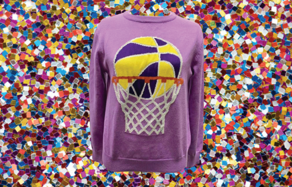 Bling Bling Basketball Sweater Purple/Gold