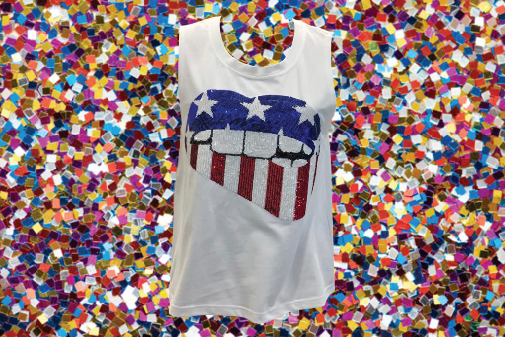 Sparkle Spangled Lips Tank