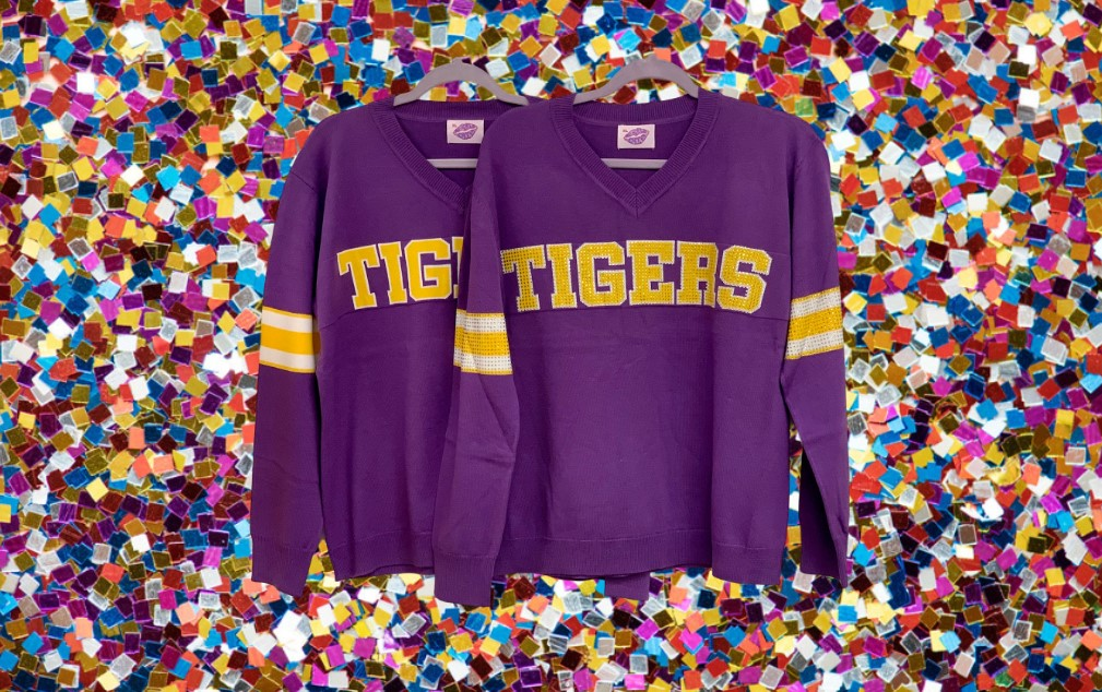 TIGERS Purple Jersey Sweater