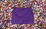 WINNING Wrap Skirt Purple/Tiger Sequins