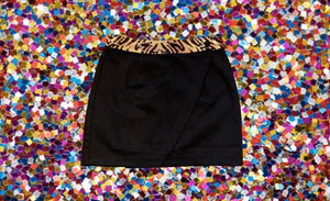 WINNING Wrap Skirt Black/Tiger Sequins