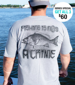 Men's Grey Red Snapper Short Sleeve Tee