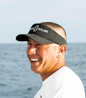 Black Flexfit Visor, Adjustable