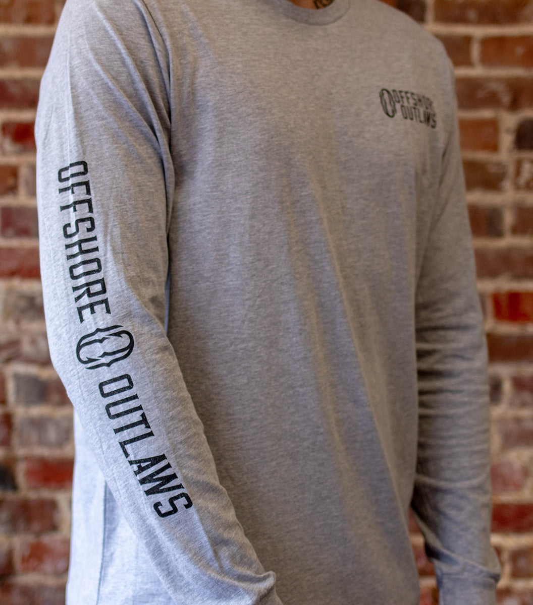 Grey Long Sleeve Unisex Tee