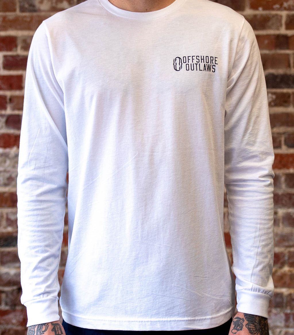 White Long Sleeve Unisex Tee