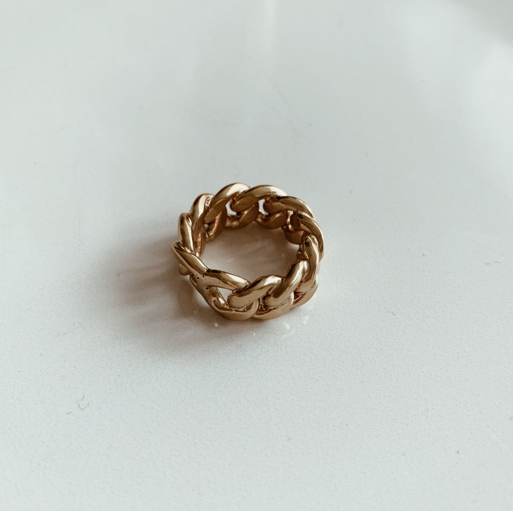 sweet palms, chain design ring
