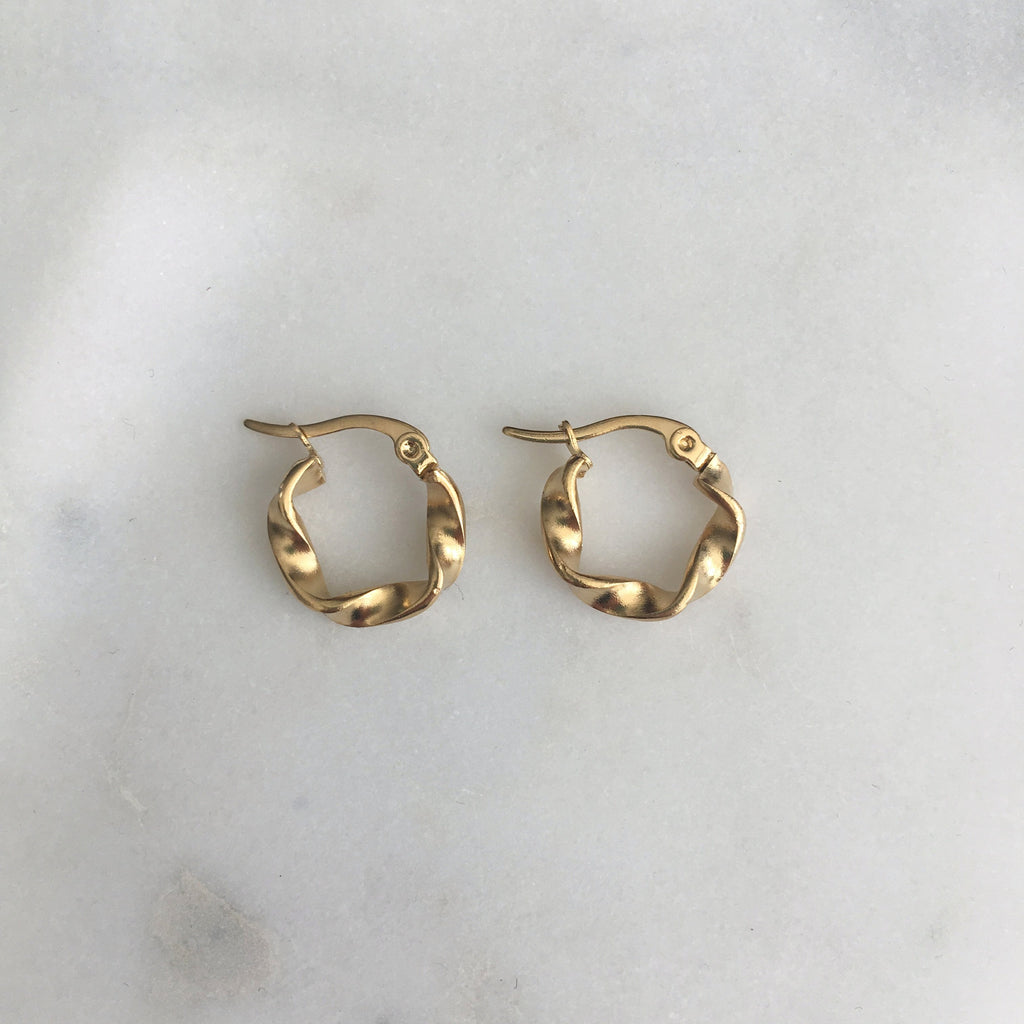 Twisted Hoops - Small