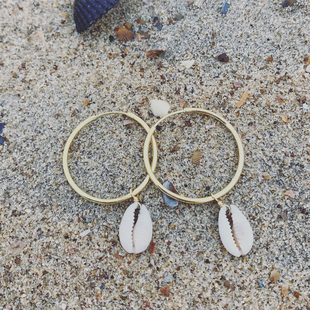Kauri Shell Hoops - Large