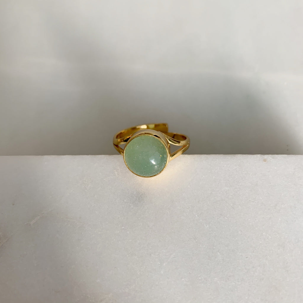 sweet palms green stone ring