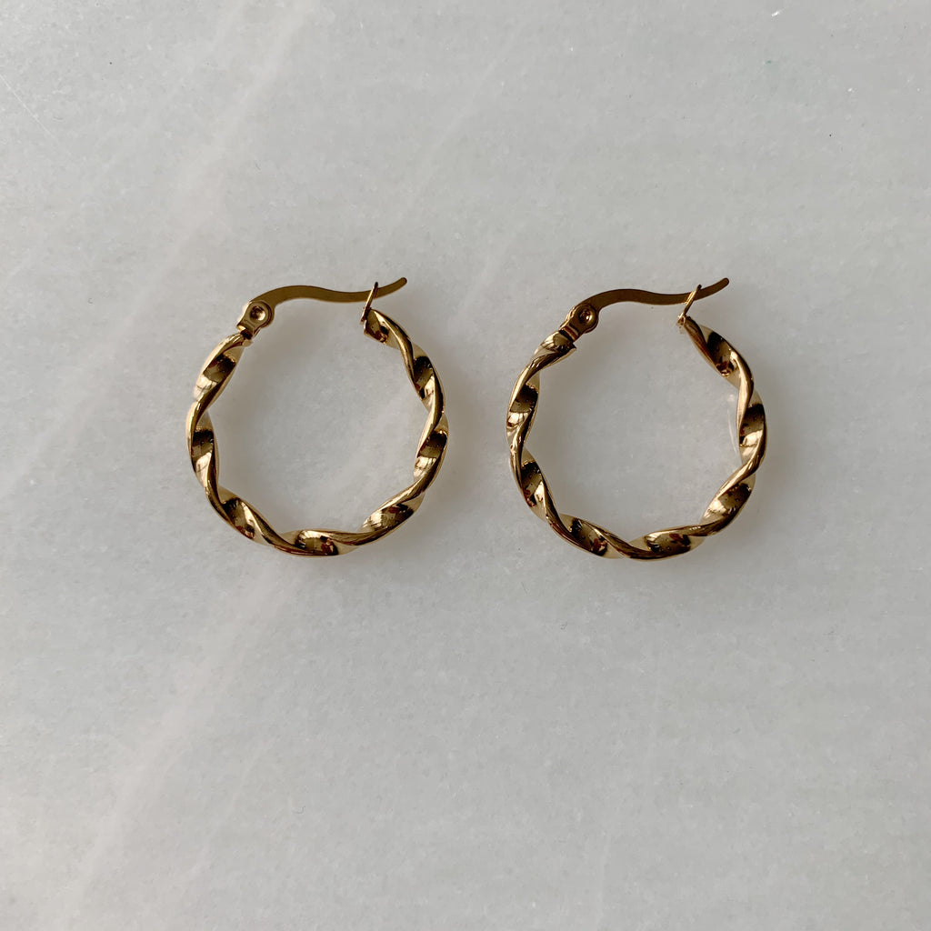 Twisted Hoops - Medium