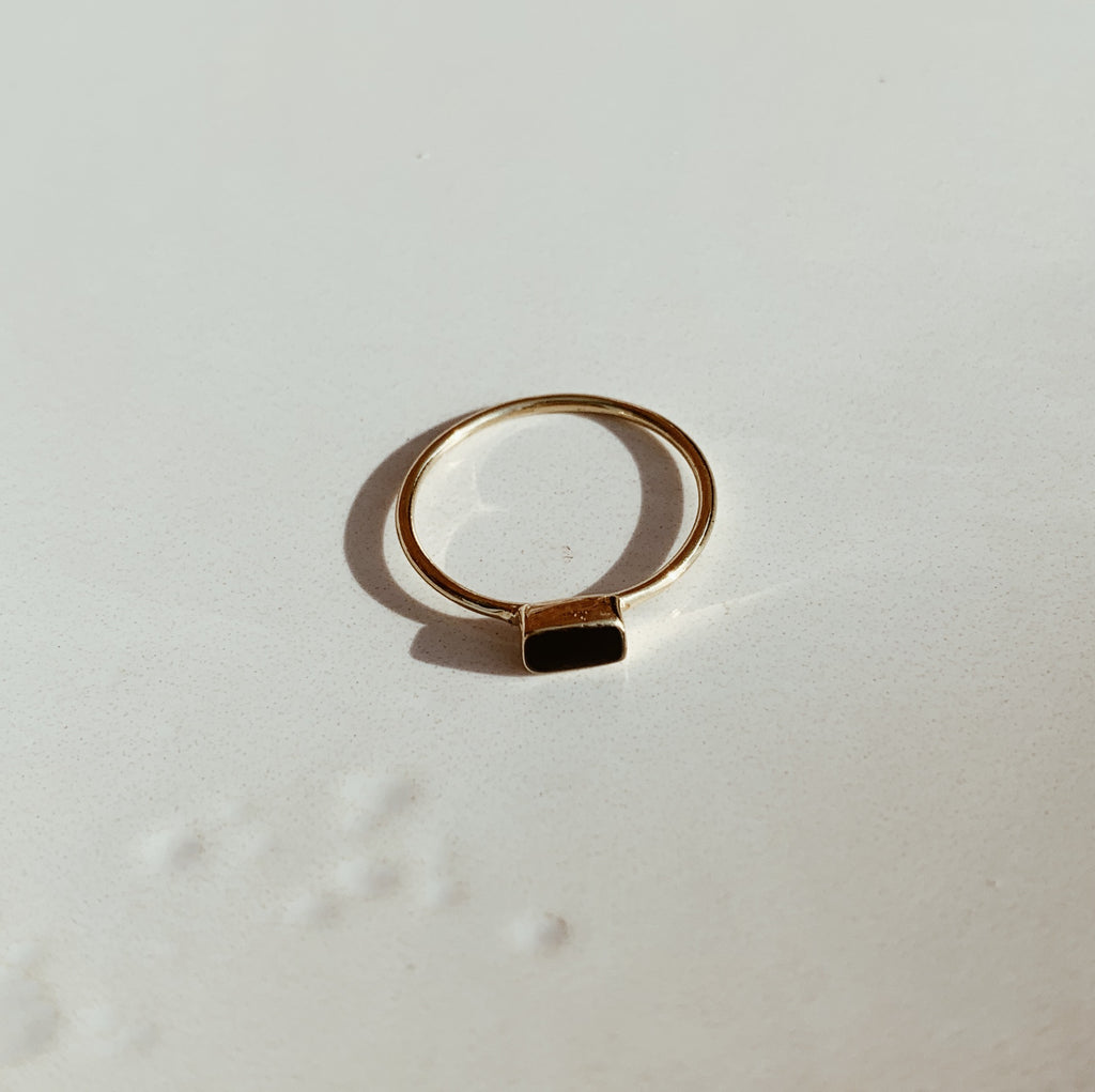sweet palms onyx rectangle ring