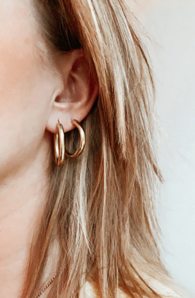 Oval Hoops Medium - Gold