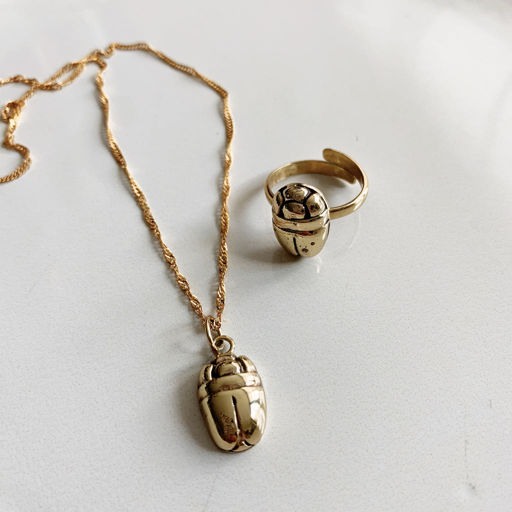 Beetle Necklace - Silver