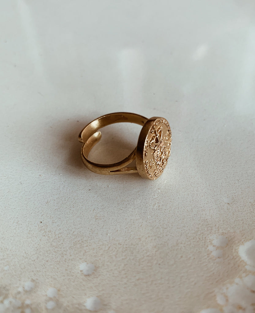 Coin Ring - Gouden Tientje