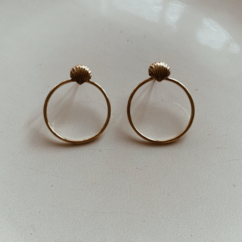 Shell Stud Hoops