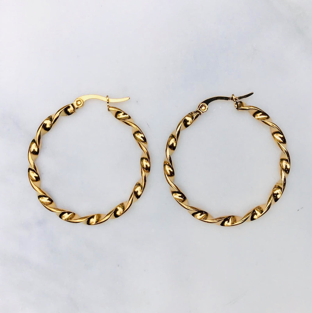 sweet palms twisted hoops big