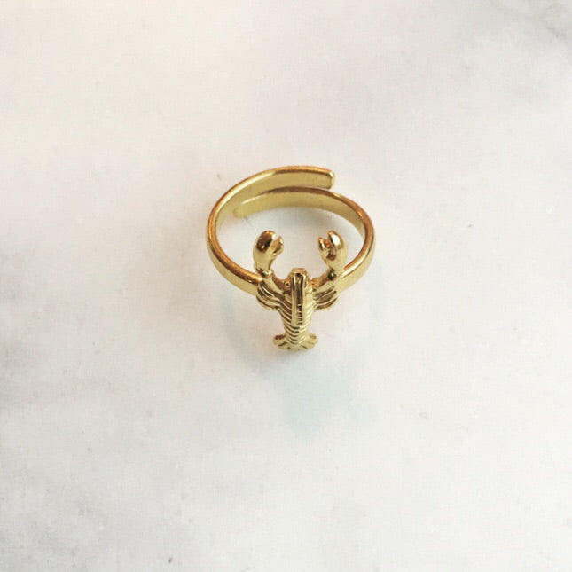 Sweet Palms lobster ring