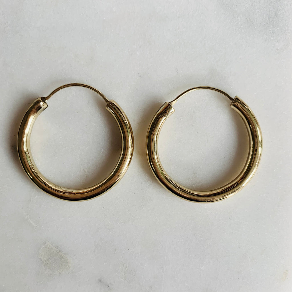 Hoop Earrings Large - Gold