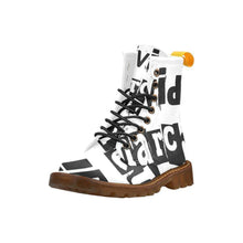 Load image into Gallery viewer, Individual Anarchism Black & White Mens Combat Boots
