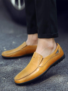 Men Stitch Detail Slip On Shoes