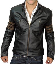 Load image into Gallery viewer, Men Black XMen Style Leather Jacket