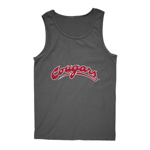 Official NCAA Washington State University Cougars - PPWST04 Mens / Womens Boyfriend Tank Top
