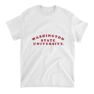 Official NCAA Washington State University  Cougars - RYLWST01 Mens / Womens Boyfriend T-Shirt