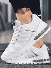 Load image into Gallery viewer, Men Striped Detail Lace Up Trainers