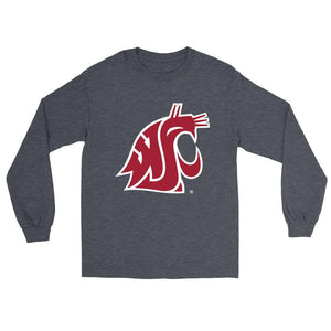 Official NCAA Washington State University Cougars - RYLWST06 Mens/ Womens Boyfriend Long Sleeve Tee