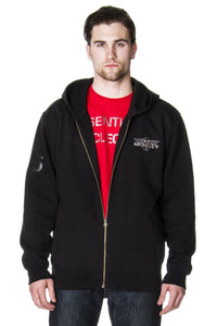 Men's Zip Hoodie In Charcoal
