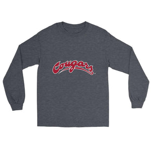 Official NCAA Washington State University Cougars - PPWST04 Mens/ Womens Boyfriend Long Sleeve Tee