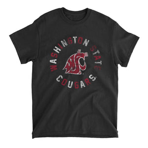 Official NCAA Washington State University Cougars - CL18WST30 Mens / Womens Boyfriend T-Shirt