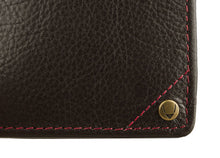 Load image into Gallery viewer, Hidesign Angle Stitch Leather Slim Bifold Wallet