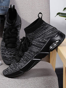 Men Lace Up High Top Sneakers