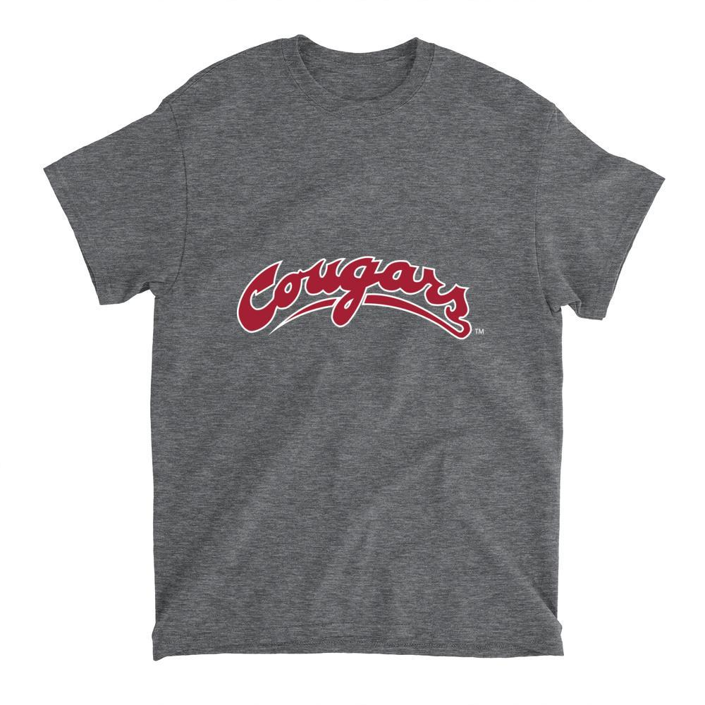 Official NCAA Washington State University Cougars - PPWST04 Mens / Womens Boyfriend T-Shirt