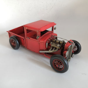 Red Hot Rod Pick Up Truck