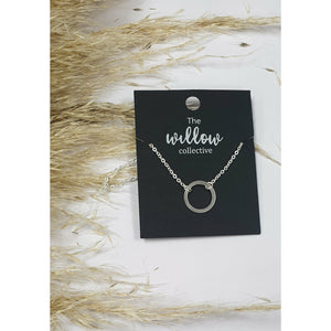 The Willow Collective - Hollow Circle Necklace