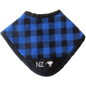 NZ Checked Dribble Bib Blue - NZ
