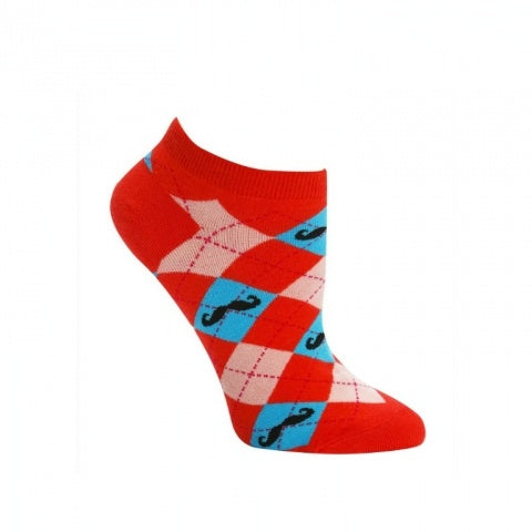 FEMALE ANKLE-MOUSTACHE ARGYLE