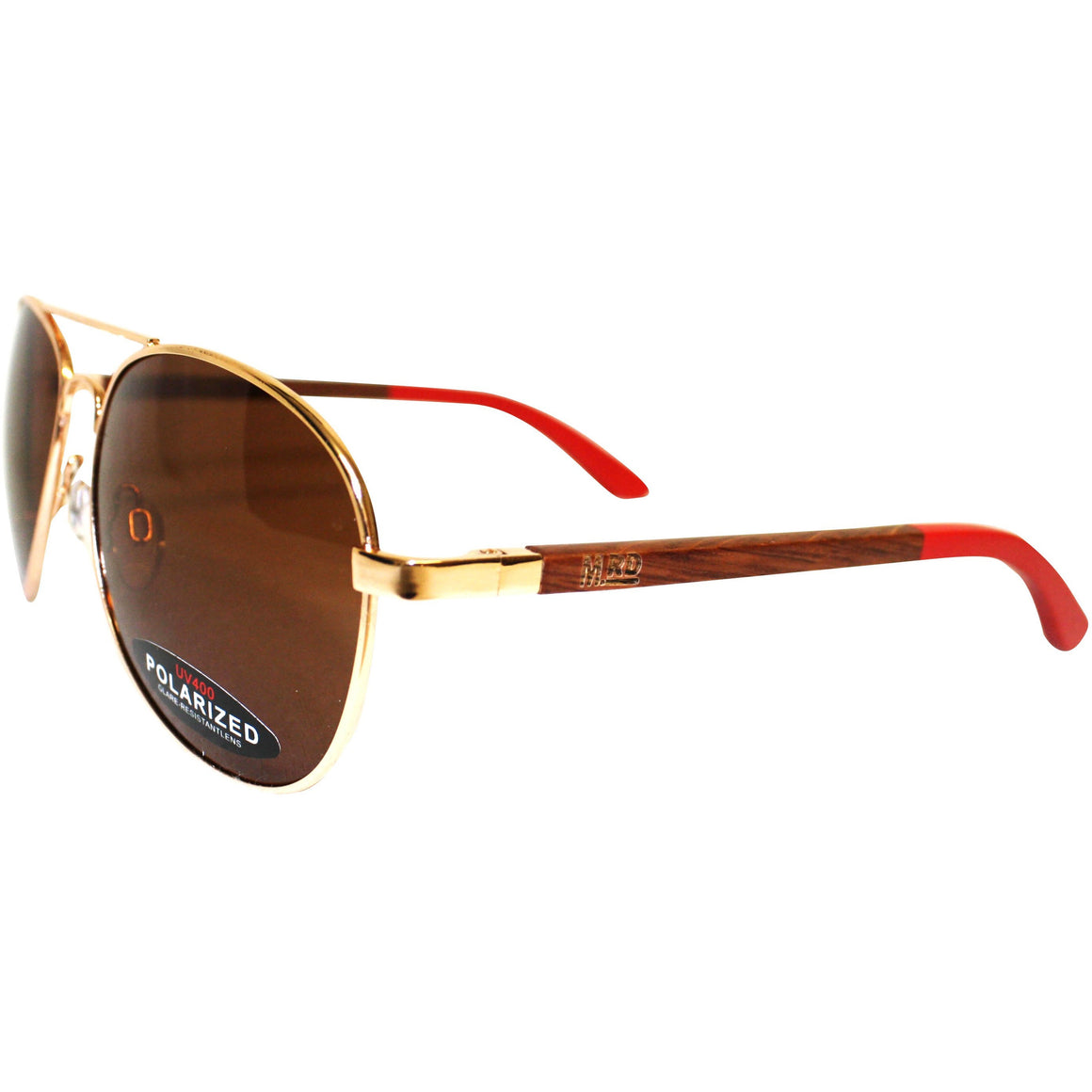 Wooden Sunnies - Aviator Red Goose