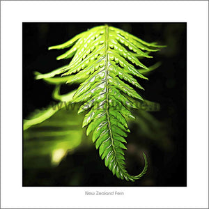 Fern Leaf photo board 19x19cm